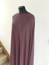 Black/Pink Jacquard Spot Double Knit Stretch Jersey  Dressmaking Fabric 2.3mts