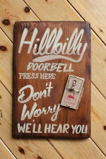 Hillbilly Door Bell Mouse Trap Sign Restaurant Bar Man Cave Retail Placque