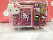 Vintage Sanrio Original 2006 Hello Kitty Mini Stamp Set W Pad Ink Plastic Case