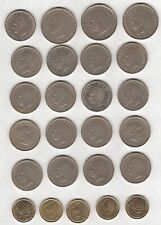 25 SPANISH COINS 25 / 5 PTAS - 1957 TO 1992