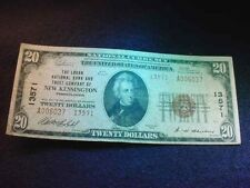 1929 $20  LOGAN NAT'L BANK AND TRUST CO OF NEW KENSINGTON PA NATIONAL NOTE!   #1