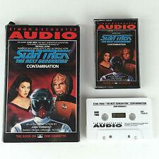 """1991 Star Trek Next Generation """"Contamination"""" Cassette Audiobook Vtg"""