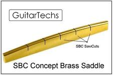 GuitarTechs FREE SHIP SBC Concept BRASS SADDLE for Acoustic Guitar