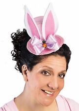 Mini Easter Rabbit Ears Top Hat Girls Photo Shoot Prop Adult Pink Pastel Colors