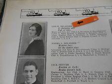 MISS AMERICA 1927-1932 LOIS DELANDER/ORIGINAL 1930 JOLIET HIGH SCHOOL YEARBOOK