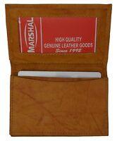Tan Men's Genuine leather Men's Bifold Wallet 18 Credit Card Holder
