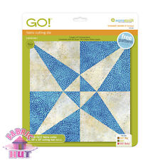 """Accuquilt GO! Fabric Cutting Die Crossed Canoes 9"""" Quilting Sewing 55181"""