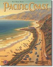 Pacific Coast (USA) metal sign  410mm x 320mm   (de)  FAST dispatch from UK