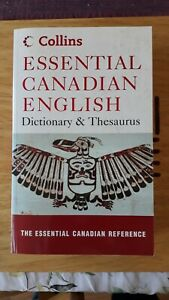 Essential Canadian English Dictionary And Thesaurus, paperback book, Collins