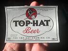 Vintage Top Hat Beer Label Cincinnati Ohio