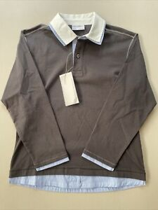 PORSCHE DESIGN DRIVER'S SELECTION Boys Long Sleeve Polo 128/134 (Sz Small) NWT