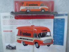 """CAMION-VOITURE FOURGON PUBLICITAIRE RENAULT 2,5 T  """"L'UNION"""" (1958)-(1/43éme)."""