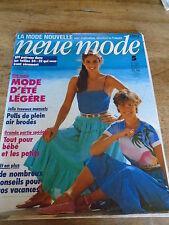 "MAGAZINE PATRONS VINTAGE ""NEUE MODE MODE ETE MAILLOTS ROBES JUPES  ETC 1981"