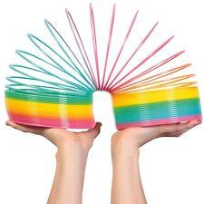 GIANT RAINBOW COLOURED PLASTIC SPRINGY SLINKY CHILDREN KIDS RETRO TOY GAME 22010