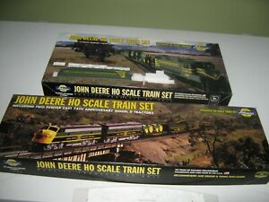 HO John Deere partial train sets with locomotive