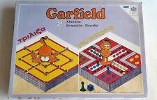 Garfield Vintage Board Game 2 In 1 Games Ludo & Tic Tac Toe 9 Greek Edition 1978