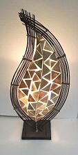 Lampada Rame insolita shell hand made etnico Bali Designer Lampada da tavolo 70 cm