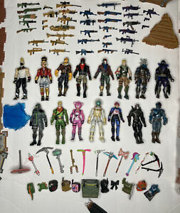 HUGE Lot of 252 Piece Fortnite Action Figures and Accessories + ATV Vehicle