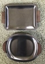 Vintage Decorative Petite Size Serving Trays Set Of 2. Year 6.5 X 4.5 Inches