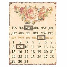 nostalgischer Kalender Rosen 25x33 Cm Clayre Eef