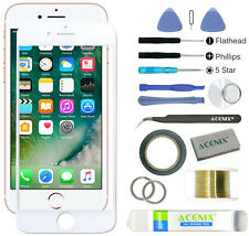 ACENIX® Front Outer Screen Glass Lens Replacement Repair Kit for iPhone 7 White