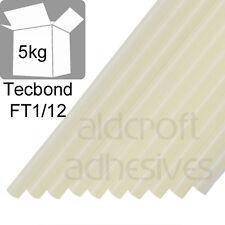TECBOND FT1/12 Clear Hot Melt Glue Sticks 12mm, 5kg Floristry