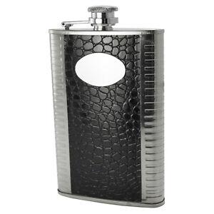 US Stock Stainless Steel Screw Cap Hip Pocket Flask Alcohol Liquor Whiskey 4176