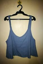 TOP BLUE COLOR FLARE CROPPED SIZE S/M