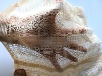 Antique Lace Trim Panel Primitive Salvage Sample Dolls Sewing Art Prim