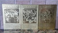 Yu-gi-oh Obelisk The Tormentor Slifer The Sky Dragon & Ra Gold Metal Cards