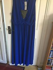 Windsmoor COLEBROOKE Ladies S22 Royal Blue Sleeveless  dress with diamonte patte