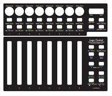 Overlay (schwarz) für Behringer BCF2000 in Logic Control emulation mode
