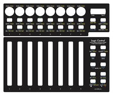 Overlay (Noir) Pour Behringer bcf2000 en LOGIC CONTROL émulation mode