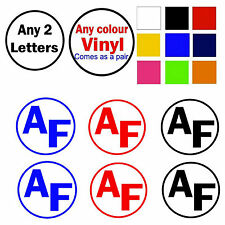 "2x Body Panel Decals 4""x4"" Vinyl Letters Sticker Decal - ANY LETTERS ANY COLOUR"