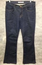 J Brand Lexington Mid-Rise Flare Jeans in PURE Dark Blue Wash Women's Size 29x30