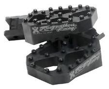 Two Brothers Honda Grom 14-15 Black Billet Foot Pegs Black FRAME (FITS:HONDA)