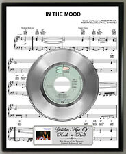 Robert Plant In The Mood Shined Silver 45 Record Sheet Music Poster Art Plaque