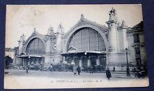CPA CARTE POSTALE 1916 TOURS INDRE ET LOIRE GARE SNCF TRAIN REGION CENTRE 37