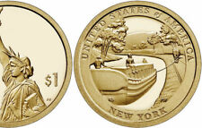 2021-D NEW YORK (NY) INNOVATION ERIE CANAL UNCIRCULATED GOLDEN DOLLAR FROM BAG💰