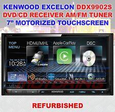 "KENWOOD EXCELON DDX9902S 2-DIN 7"" TOUCHSCREEN DVD AM/FM HD AMP IPOD REFURBISHED"