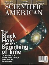 Scientific American August 2014 The Black Hole at the Beginning of Time   (Magaz