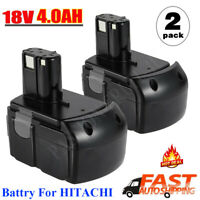 2x 4.0Ah 18V BCL1815 Lithium-ion Battery For HITACHI BCL1830 326241 327731 CC