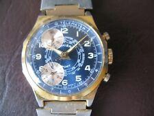 Montre homme vintage chronographe CIMIER plaqué or made in Suisse