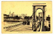 CPA 84 Vaucluse Avignon Pont suspendu animé