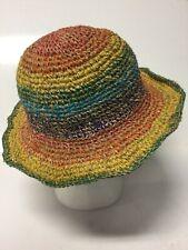 New Natural Hemp & Cotton Rainbow Festival Boho Unisex Hippie Hat
