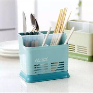 Utensil Drying Rack Chopsticks Spoon Tidy Storage Holder Cutlery Drainer Kitchen