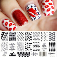 BORN PRETTY Nail Art Stamping Plate Lip Cross Pattern Image Template BP-L012
