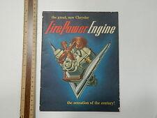 1951 FirePower Engine Sales Catalog book, Chrysler Advertising Car Automobile