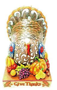 Jim Shore Give Thanks Thanksgiving Turkey Enesco 4012600 2008