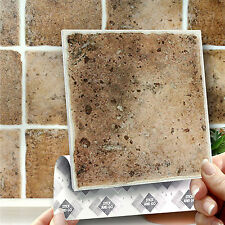 8 Old Terracotta Stick On Self Adhesive Wall Tile Stickers Kitchen & Bathroom